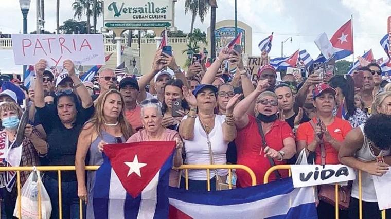 Cubanos de Miami piden a Joe Biden más medidas y más profundas contra el régimen
